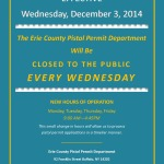 Erie County Pistol Permit Office Announces New Hours