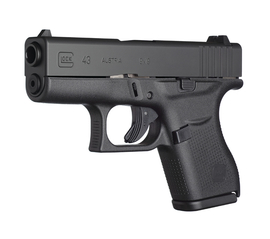 Now available at LiVecchi's Gun Sales – Glock 43 single stack 9mm S. Auto Pistol
