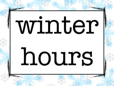 LGS Winter store hours effective Saturday, Nov 21st